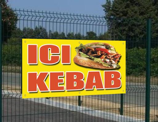 Banderole Ici Kebab, seulement 29€HT