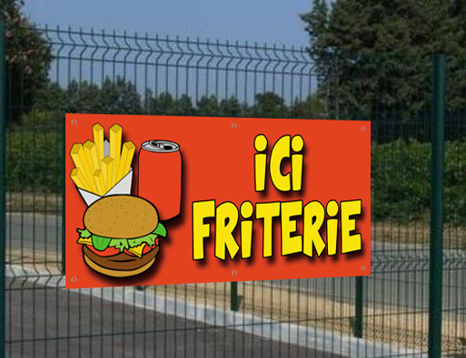 Banderole Ici Friterie, seulement 29€HT